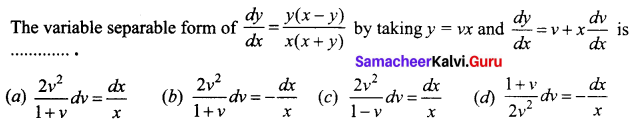 Samacheer Kalvi 12th Business Maths Solutions Chapter 4 Differential Equations Ex 4.6 Q23