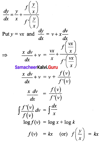 Samacheer Kalvi 12th Business Maths Solutions Chapter 4 Differential Equations Ex 4.6 Q25