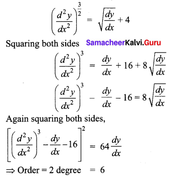 Samacheer Kalvi 12th Business Maths Solutions Chapter 4 Differential Equations Ex 4.6 Q3