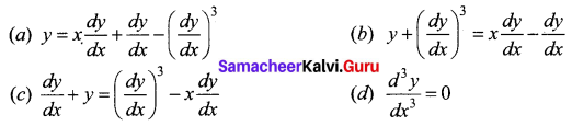 Samacheer Kalvi 12th Business Maths Solutions Chapter 4 Differential Equations Ex 4.6 Q6
