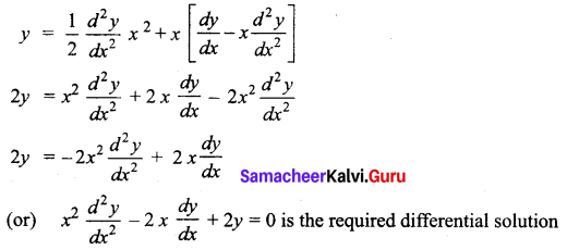 Samacheer Kalvi 12th Business Maths Solutions Chapter 4 Differential Equations Miscellaneous Problems Q2.1