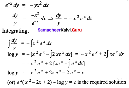 Samacheer Kalvi 12th Business Maths Solutions Chapter 4 Differential Equations Miscellaneous Problems Q3