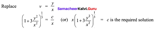 Samacheer Kalvi 12th Business Maths Solutions Chapter 4 Differential Equations Miscellaneous Problems Q4.2