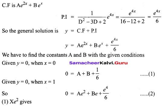 Samacheer Kalvi 12th Business Maths Solutions Chapter 4 Differential Equations Miscellaneous Problems Q7