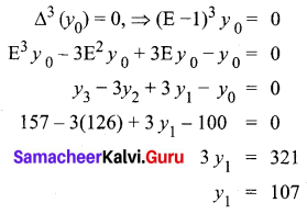 Samacheer Kalvi 12th Business Maths Solutions Chapter 5 Numerical Methods Additional Problems II Q1.1