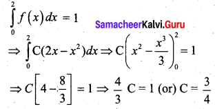 Samacheer Kalvi 12th Business Maths Solutions Chapter 6 Random Variable and Mathematical Expectation Additional Problems I Q3