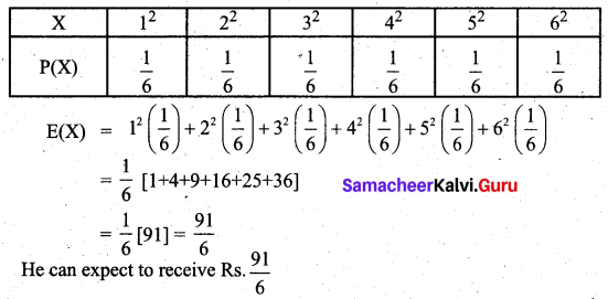 Samacheer Kalvi 12th Business Maths Solutions Chapter 6 Random Variable and Mathematical Expectation Additional Problems II Q5