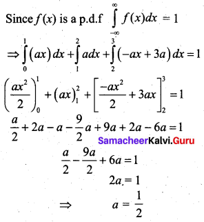 Samacheer Kalvi 12th Business Maths Solutions Chapter 6 Random Variable and Mathematical Expectation Additional Problems III Q4.1
