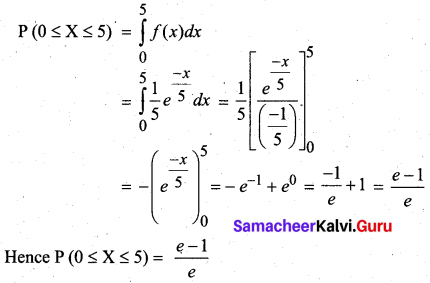 Samacheer Kalvi 12th Business Maths Solutions Chapter 6 Random Variable and Mathematical Expectation Ex 6.1 21