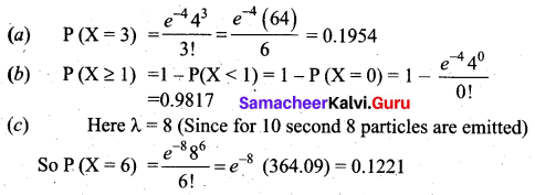 Samacheer Kalvi 12th Business Maths Solutions Chapter 7 Probability Distributions Additional Problems III Q5