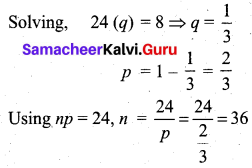 Samacheer Kalvi 12th Business Maths Solutions Chapter 7 Probability Distributions Additional Problems III Q6