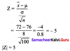 Samacheer Kalvi 12th Business Maths Solutions Chapter 8 Sampling Techniques and Statistical Inference Ex 8.2 Q16