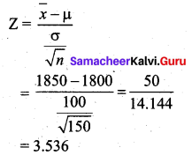 Samacheer Kalvi 12th Business Maths Solutions Chapter 8 Sampling Techniques and Statistical Inference Ex 8.2 Q17