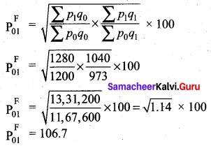 Samacheer Kalvi 12th Business Maths Solutions Chapter 9 Applied Statistics Ex 9.2 20