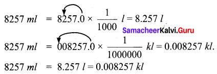 Samacheer Kalvi 6th Maths Solutions Term 2 Chapter 2 Measurements Ex 2.1 Q4.1