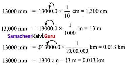 Samacheer Kalvi 6th Maths Solutions Term 2 Chapter 2 Measurements Ex 2.1 Q4