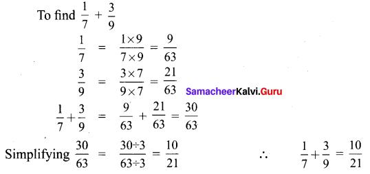 Samacheer Kalvi 6th Maths Solutions Term 3 Chapter 1 Fractions Ex 1.1 1