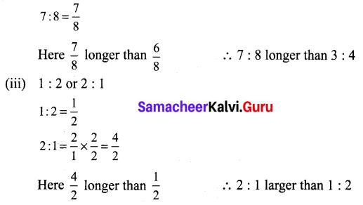 Samacheer Kalvi 6th Maths Term 1 Chapter 3 Ratio and Proportion Ex 3.2 Q5.1