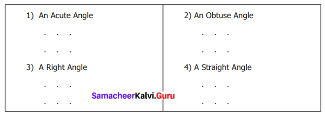 Samacheer Kalvi 6th Maths Term 1 Chapter 4 Geometry Ex 4.2 Q1