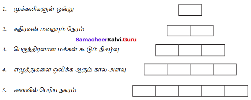 Samacheer Kalvi 7th Tamil Solutions Term 2 Chapter 1.5 இலக்கியவகைச் சொற்கள் - 7