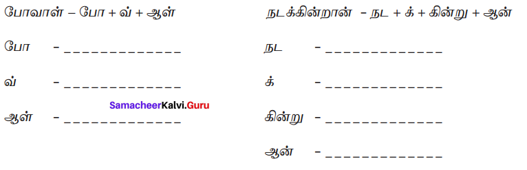 Samacheer Kalvi 7th Tamil Solutions Term 2 Chapter 2.5 ஒரெழுத்து ஒருமொழி, பகுபதம், பகாப்பதம் - 7