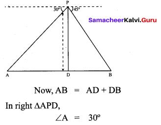 Samacheer Kalvi 10th Maths Solutions Chapter 6 Trigonometry Additional Questions 10