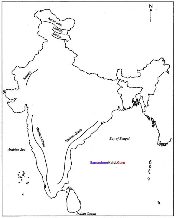 Locate The Places In India Map Shimla Darjeeling Kodaikanal Ooty Samacheer Kalvi 10th Social Science Geography