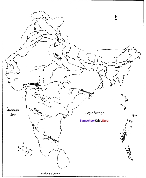 Western Ghats And Eastern Ghats In India Outline Map