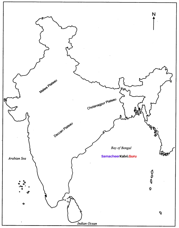 Samacheer Kalvi 10th Social Science Geography Solutions Chapter 1 India Location, Relief and Drainage 69