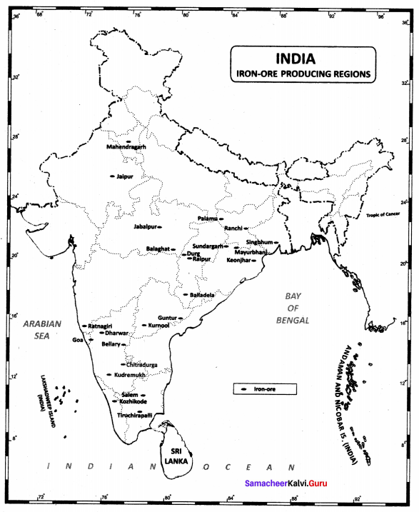 10th Social India Map In English Samacheer Kalvi