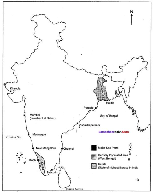 10th Social India Map Samacheer Kalvi