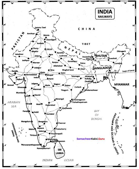 10th Social India Map In Tamil Samacheer Kalvi