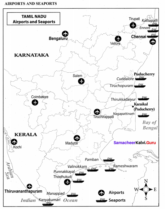 Samacheer Kalvi 10th Social Science Geography Solutions Chapter 7 Human Geography of Tamil Nadu 7