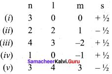 11th Chemistry Quantum Mechanical Model Of Atom Samacheer Kalvi