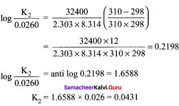 Samacheer Kalvi 11th Chemistry Solutions Chapter 8 Physical and Chemical Equilibrium-10