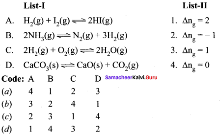 Samacheer Kalvi 11th Chemistry Solutions Chapter 8 Physical and Chemical Equilibrium-27