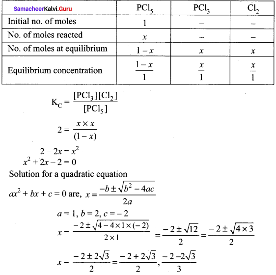 Samacheer Kalvi 11th Chemistry Solutions Chapter 8 Physical and Chemical Equilibrium-4