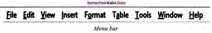 Samacheer Kalvi 11th Computer Applications Solutions Chapter 6 Word Processor Basics (OpenOffice Writer) img 5