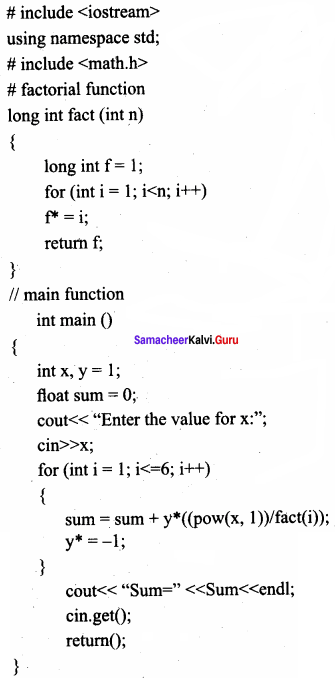 Samacheer Kalvi 11th Computer Science Solutions Chapter 10 Flow of Control 13