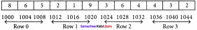 Samacheer Kalvi 11th Computer Science Solutions Chapter 12 Arrays and Structures 15