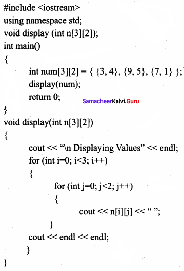 Samacheer Kalvi 11th Computer Science Solutions Chapter 12 Arrays and Structures 2