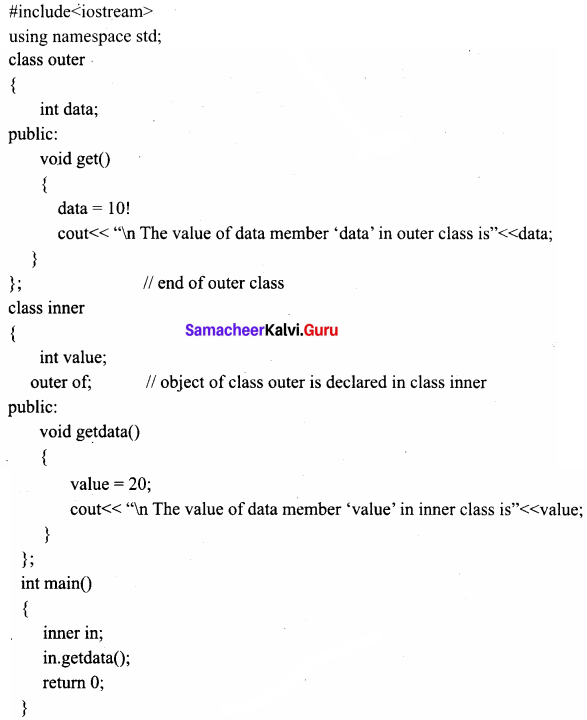 Samacheer Kalvi 11th Computer Science Solutions Chapter 14 Classes and Objects 5