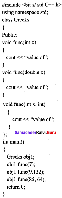 Samacheer Kalvi 11th Computer Science Solutions Chapter 15 Polymorphism 3