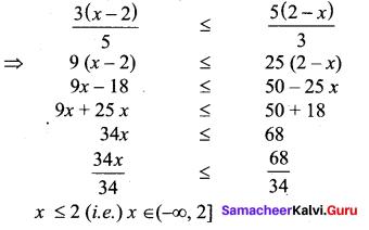 Class 11 Matric Maths Solutions Samacheer Kalvi