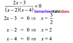 Samacheer Kalvi 11th Maths Solutions Chapter 2 Basic Algebra Ex 2.8 4