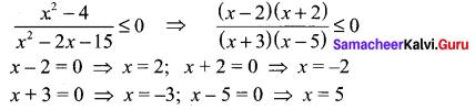 Samacheer Kalvi 11th Maths Solutions Chapter 2 Basic Algebra Ex 2.8 7