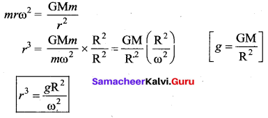Samacheer Kalvi 11th Physics Solutions Chapter 6 Gravitation 12