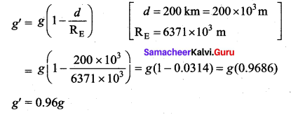 Samacheer Kalvi 11th Physics Solutions Chapter 6 Gravitation 1390