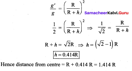 Samacheer Kalvi 11th Physics Solutions Chapter 6 Gravitation 16
