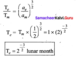 Samacheer Kalvi 11th Physics Solutions Chapter 6 Gravitation 4